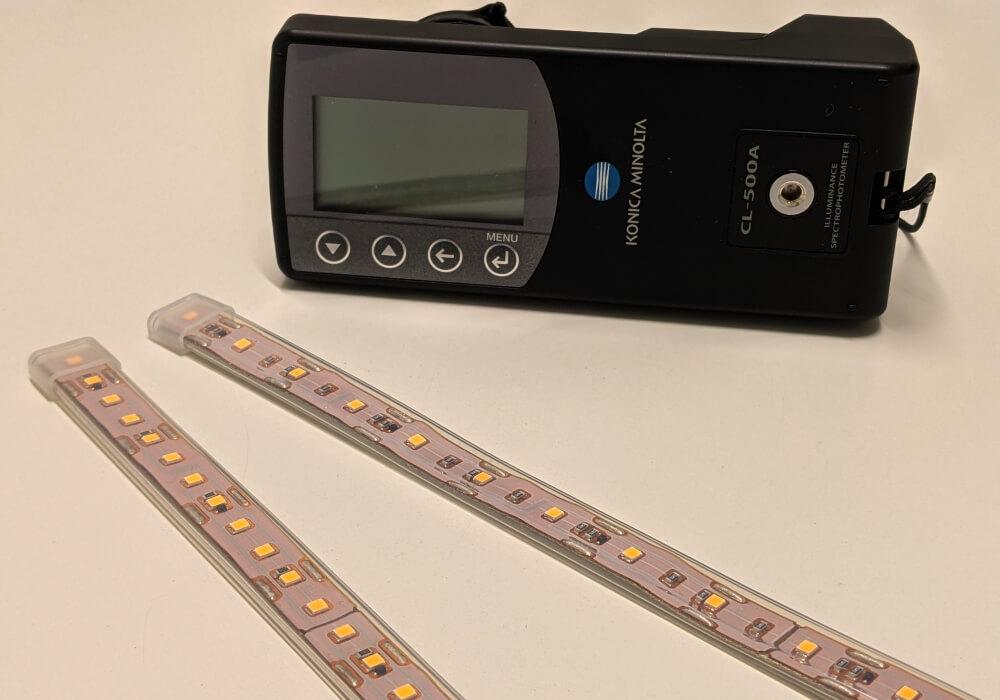 光学的な仕様の違いを比較vol.2、海外製ledテープライトVSプロテープライト