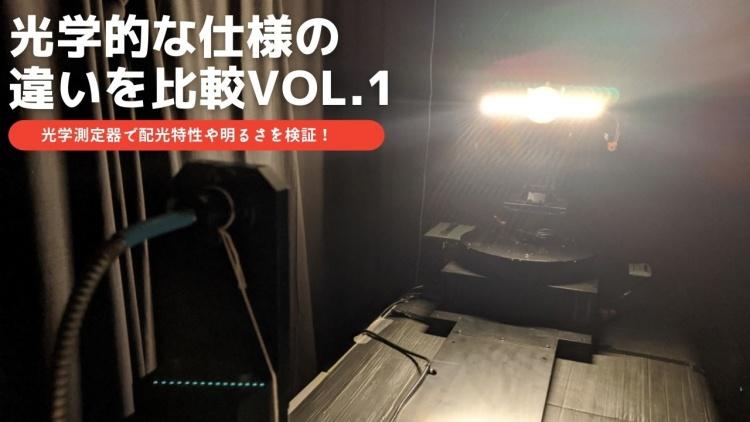 光学的な仕様の違いを比較vol.1、海外製テープライトVSプロテープライト